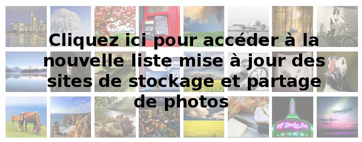 Liste des sites de stockage et partage de photos